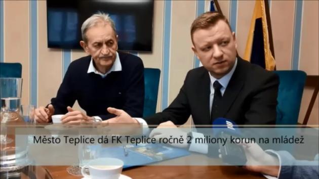 Město Teplice dá FK Teplice ročně 2 miliony korun na mládež