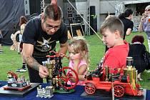 Háj u Duchcova Slavnosti v Háji - Den vynálezů, parní stroje Dětský den