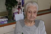 Jubilantka Růženka z Věsťan na Modlansku se dožívá 100 let.