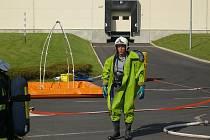 Cvičení hasičů v Knauf Insulation při úniku čpavku