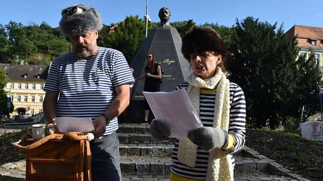 Připomenutí nedožitých 180. narozenin Julia Payera v Teplicích.