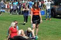Ze Rtyňských slavností, které se konaly během prvního prázdninového víkendu v obci na fotbalovém hřišti.