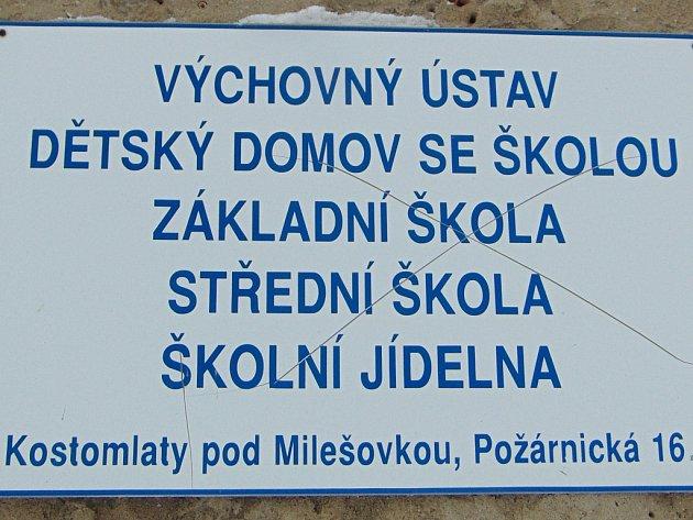 Výchovný ústav v Kostomlatech pod Milešovkou. Ilustrační foto.