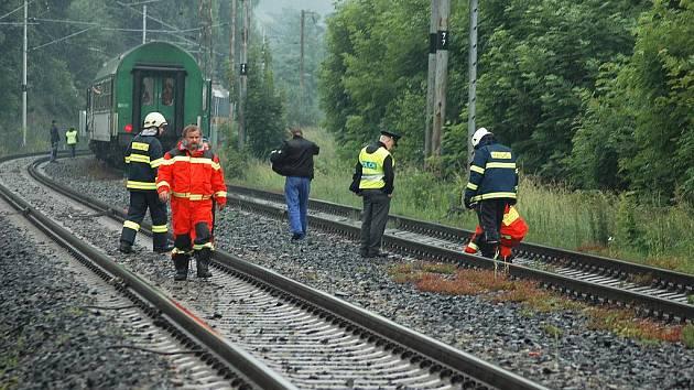 Osobní vlak srazil u Proboštova člověka.