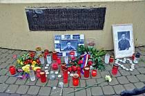 Teplice Pietní místo k listopadovým událostem na Benešově náměstí