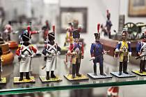 Výstava cínových vojáčků v Duchcově.