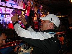 Festival Woodstock Košťany slaví 20 let. Na snímku organizátor festivalu Rudolf Spousta.