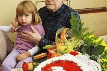 Bohuslav Fišer z Duchcova oslavil 100 let.