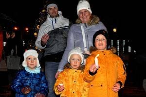 Rozsvícení vánočního stromu v Teplicích.