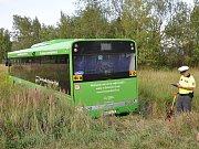 Nehoda autobusu v Srbicích.