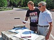 Stavební práce probíhají v šanovském parku, v místě budoucího pomníku Julia Payera.