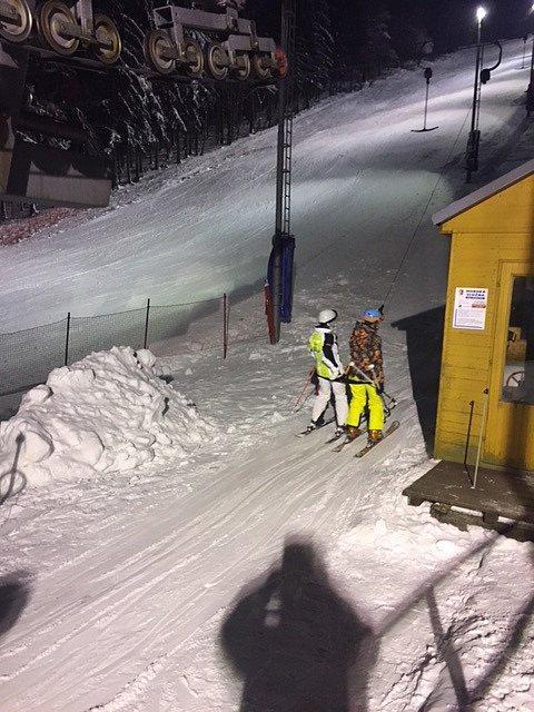 Večerní lyžování na Bouřňáku
