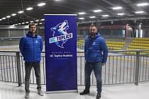 Vedení HC Teplice Huskies. Vlevo předseda výkonného výboru Martin Cimrman, vpravo čestný prezident Zdeněk Skořepa.