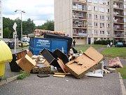 Tzv. Horní sídliště Maršov v Krupce, obývané především Romy. Ilustrační foto.