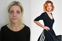 Veronika Černá před a po proměně.