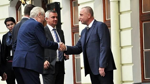 Miloš Zeman a Petr Benda.