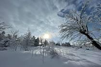 Zasněžená krajina. Ilustrační foto.