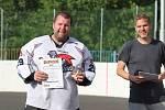 Hokejbalový turnaj v Krupce - nejlepší brankář Lukáš Chabr