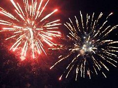 Ohňostroj na Lázeňské 2014