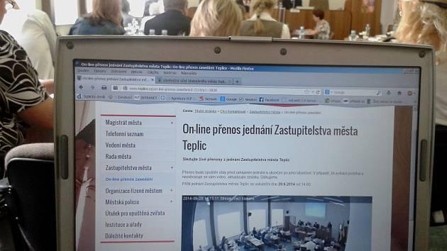 Město Teplice, on line přenos ze zastupitelstva.