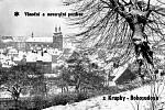 Zima v Krušných horách na archivních pohledech a fotografiích. Pozdrav z Krupky - Bohosudova.