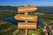 Rekreační oblast Barbory se dělí na tři katastry, Jeníkov, Hrob a Košťany.