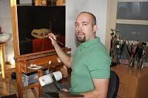 Pracovník ledvické úpravny Jan Matěják rád maluje