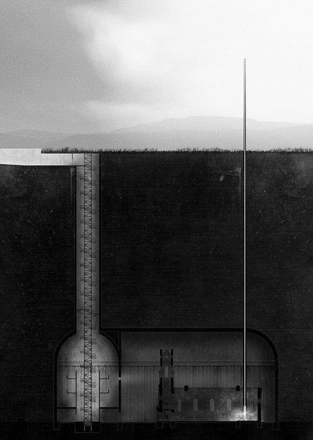 Student liberecké architektury Adam Kössler vyhrál legendární soutěž Ještěd F kleci se zasypaným kostelem vRadovesicích.