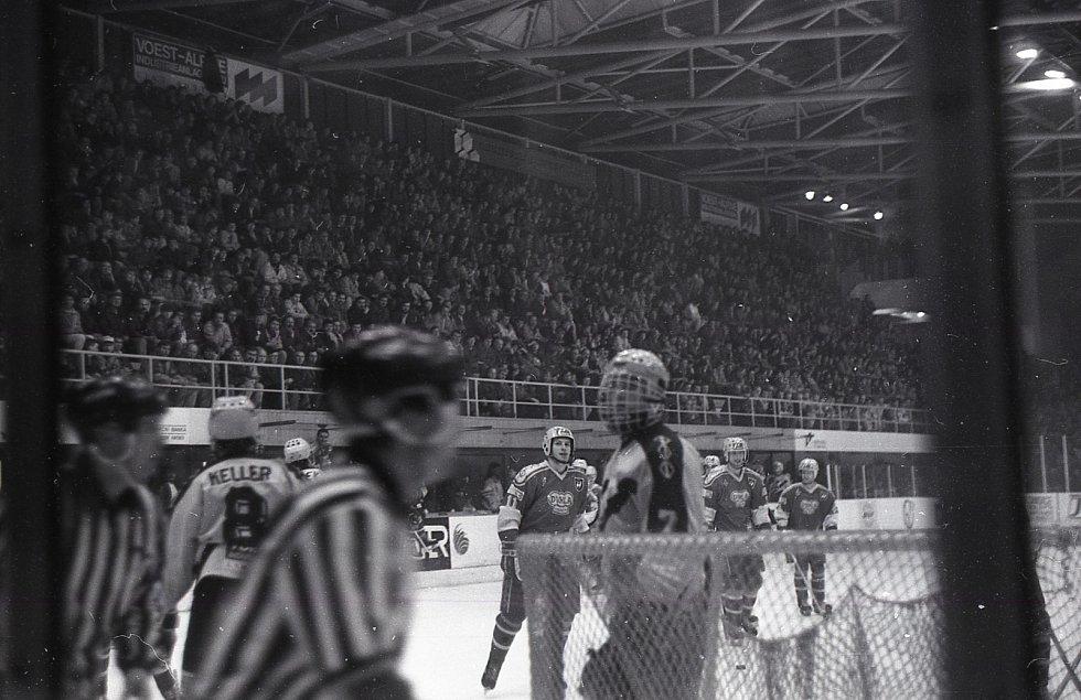 Semifinále Litvínov - Trenčín 1991