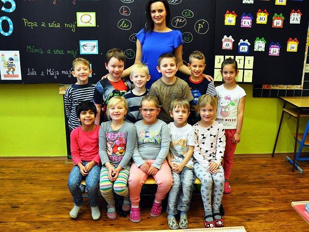 Na fotografii jsou žáci ze ZŠ Teplická vKrupce, 1.C třída paní učitelky Lenky Jiříkové.
