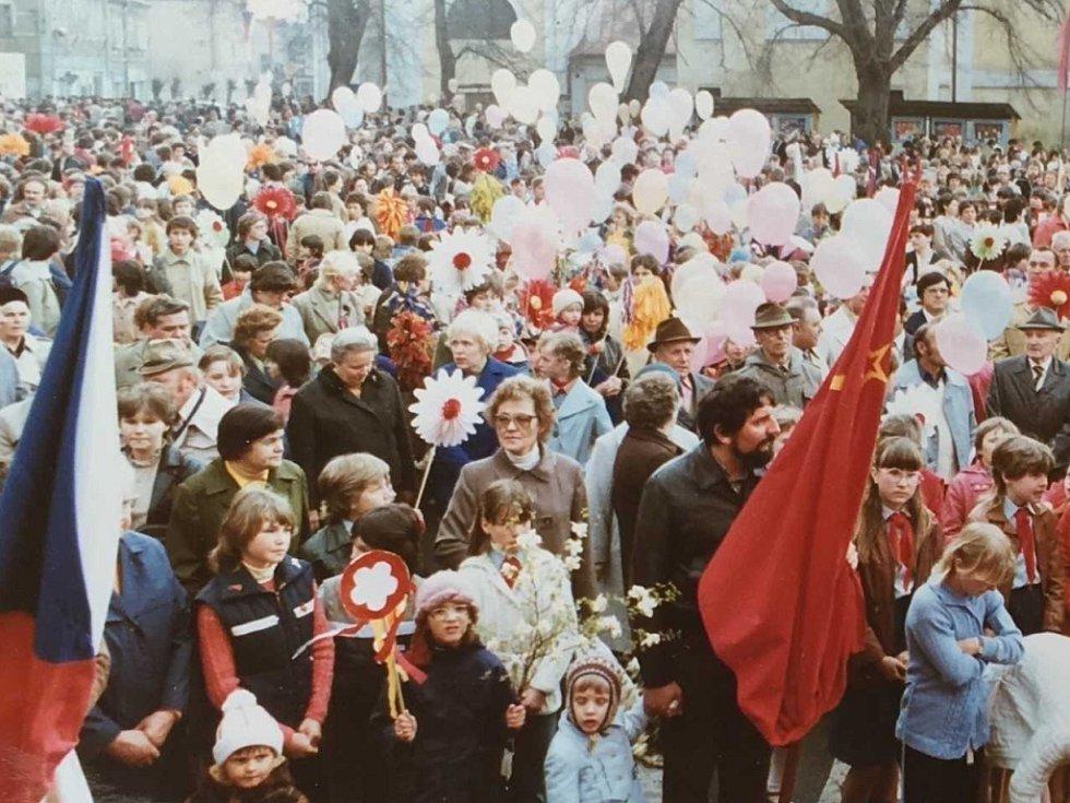 Oslavy 1. máje v Krupce.