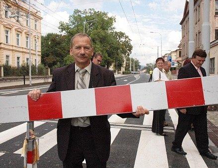 Jaroslav Kubera při slavnostním otevření Masarykovy ulice