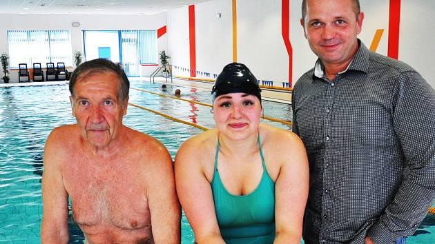 V Aquacentu v Teplicích trénovala ve čtvrtek dálková plavkyně Lucie Leišová.
