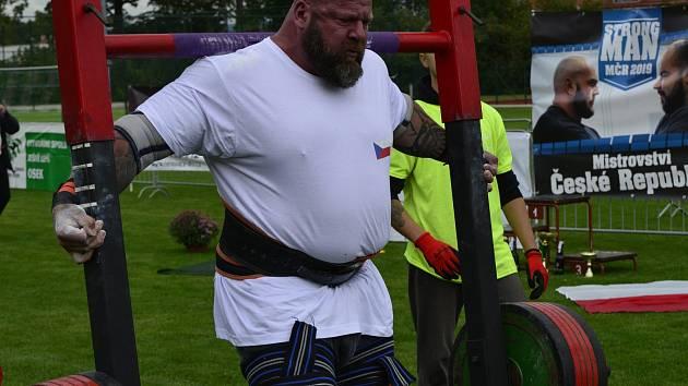 Mistrovství ČR Strongman se konalo 7. 9. 2019 v Oseku v Městském sportovním areálu. Na snímku Michal Tichý.