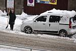Zasněžené Teplice, pondělí 8. února.