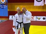 Věra Zemanová s trenérem Prokešem