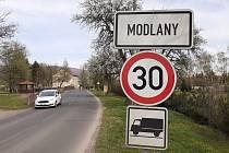 Obec Modlany.