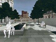 Vizualizace proměny Tržního náměstí v Teplicích.