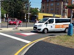 Instalace příčných prahů a změna přednosti v jízdě na šanovském okruhu v Teplicích