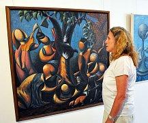 Výstavu výtvarných prací si můžete prohlédnout v galerii Informačního turistického centra v cisterciáckém klášteře v Oseku až do 26. srpna.