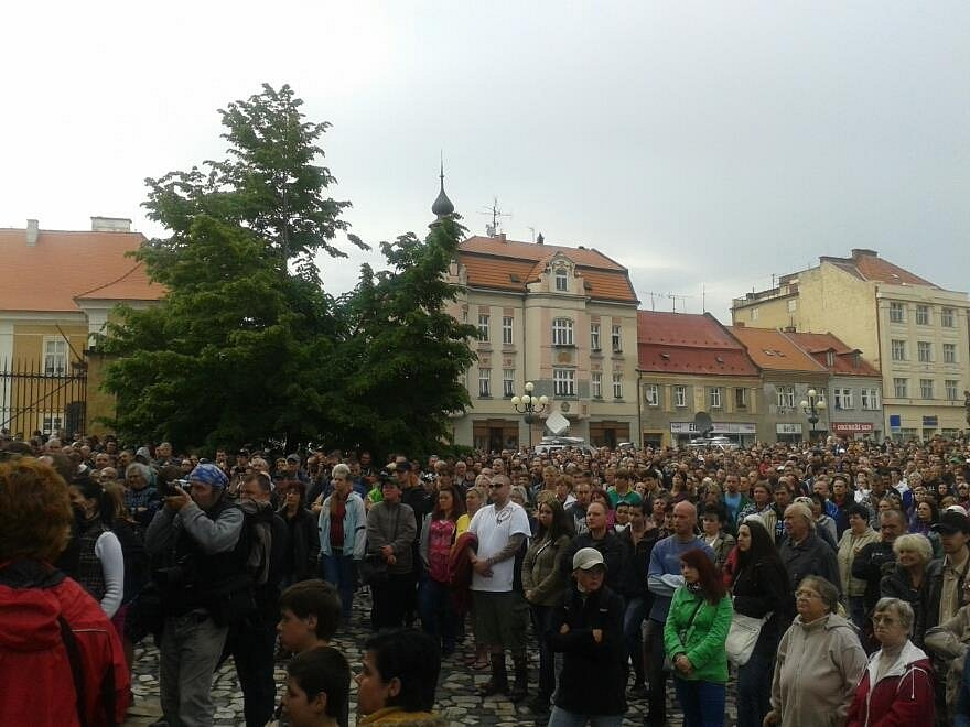 Z demonstrace v Duchcově