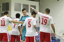 Teplice v dalším utkání nejvyšší futsalové soutěže porazily Hodonín 8:1