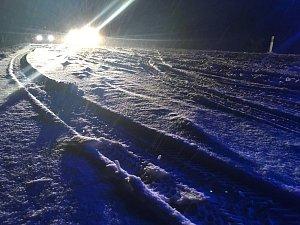 Sníh komplikuje dopravu v Ústeckém kraji