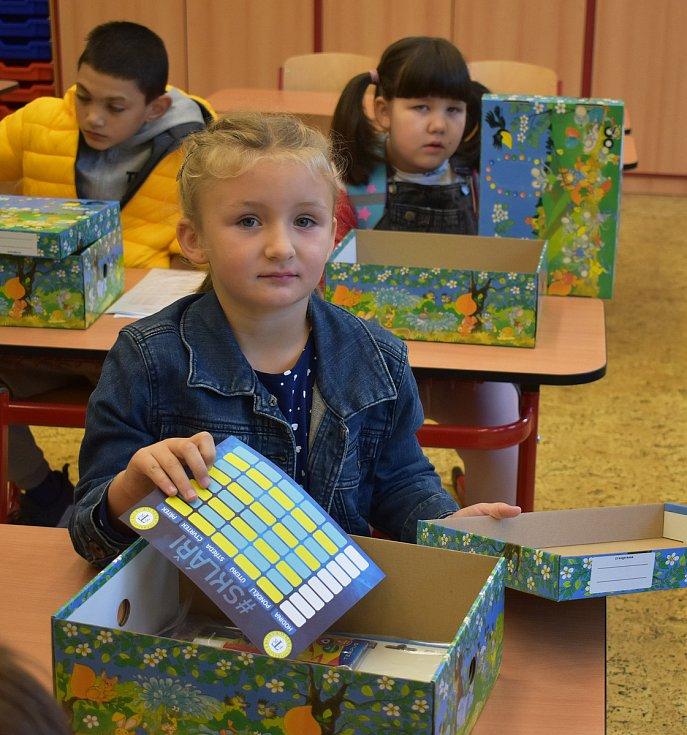 První školní den v ZŠ Maxe Švabinského.