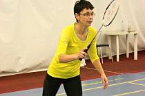 Tradiční badmintonový turnaj Masarykovy nemocnice Ústí nad Labem se konal již podesáté. Na snímku je Eva Smržová.