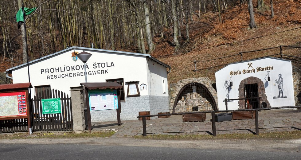 Kulturní památka štola Starý Martin v Krupce.