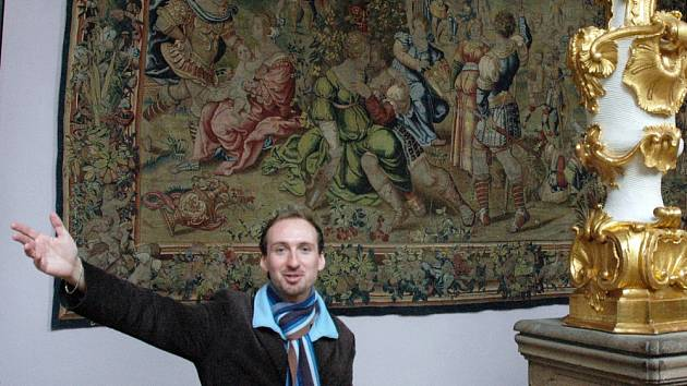 Kastelán státního zámku Duchcov Marian Hochel.