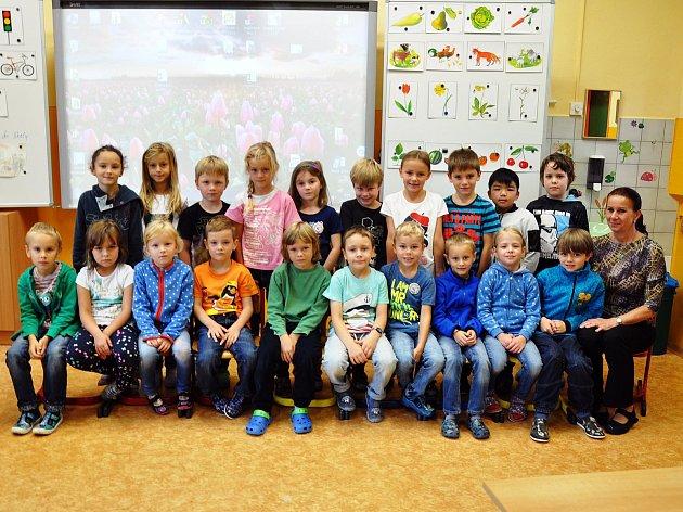 Na fotografii jsou žáci ze ZŠ Buzulucká, Teplice, 1.C třída paní učitelky Jitky Sůvové.