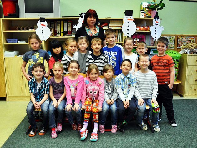 Na fotografii jsou žáci ze ZŠ Masarykova vKrupce, 1.C  třída paní učitelky Petry Hallerové.