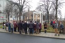 U teplického památníku si připomněli oběti holocaustu.